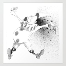 Clown Suicide Art Print