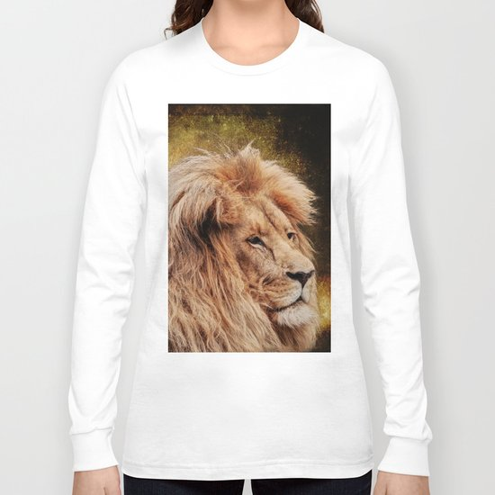 Wild Lion Carnivore Africa Long Sleeve T-shirt