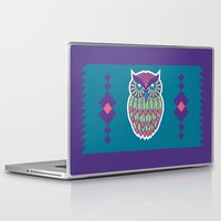 indie Laptop & iPad Skins featuring Indie Owl by Dino DAdamo