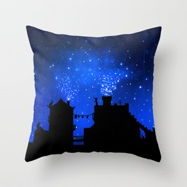 Cat town. Throw Pillow