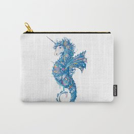 colorful seahorse artfully decorated as a unicorn  Carry-All Pouch