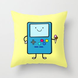 Ice cream lover video game Throw Pillow