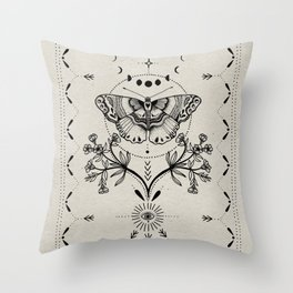 Magical Moth Throw Pillow