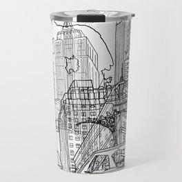 New York! B&W Travel Mug