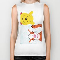 winnie the pooh Biker Tanks featuring winnie the pooh and tigger by Art_By_Sarah