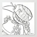 Robot Pirate - ink by kelly-jo