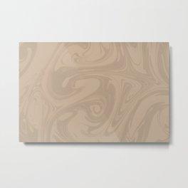 Pantone Hazelnut Abstract Fluid Art Swirl Pattern Metal Print