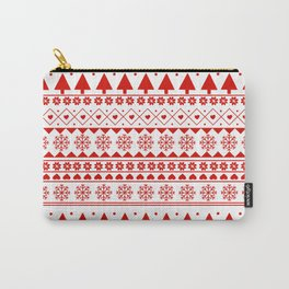 Red and White Christmas Jumper pattern Carry-All Pouch