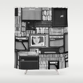 Vintage music Shower Curtain