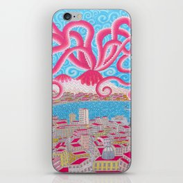 NapoliVesuvioOctopus iPhone Skin