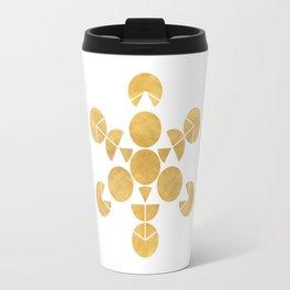 ICOSAHEDRON FRUIT OF LIFE minimal sacred geometry Travel Mug