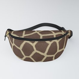 primitive safari animal brown and tan giraffe spots Fanny Pack