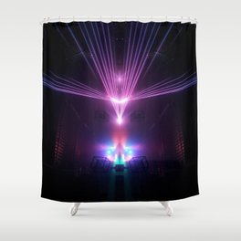 Lazer Fight  Shower Curtain