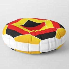 Football ball with German flag Floor Pillow
