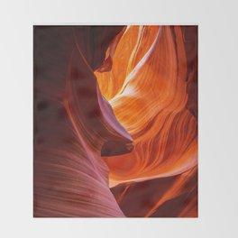 SANDS OF TIME PHOTO - ANTELOPE CANYON IMAGE - ARIZONA SOUTHWEST USA - LANDSCAPE NATURE PHOTOGRAPHY Throw Blanket