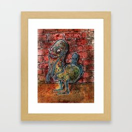Dickbutt gone zombie Framed Art Print