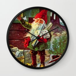 """""""The Presents Have Arrived"""" by Jenny Nystrom Wall Clock"""