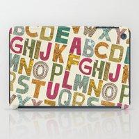 alphabet iPad Cases featuring ALPHABET by Matthew Taylor Wilson