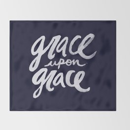Grace upon Grace x Navy Throw Blanket