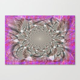 Siver Maze Abstract Canvas Print
