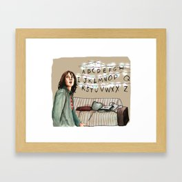 StrangerThings Winona Lights Illustration fan art Framed Art Print