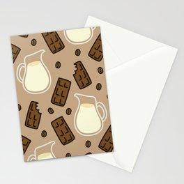 Mocha Pattern Stationery Cards