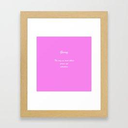 Rule 8 Giving Framed Art Print