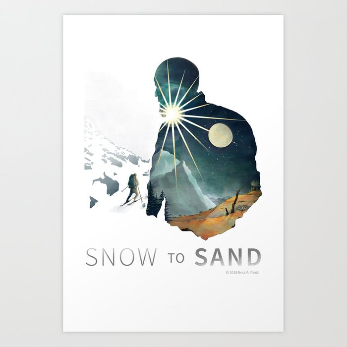 """""""Snow To Sand"""" Official One-Sheet Poster Art Print"""