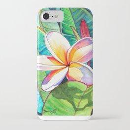 Plumeria Garden iPhone Case