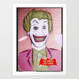 Cesar Romero as the mad clown Art Print