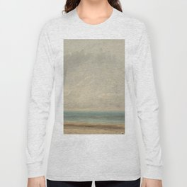 Gustave Courbet Calm Sea 1866 Painting Long Sleeve T-shirt
