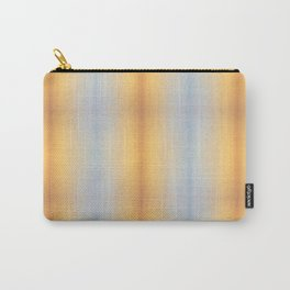 blue yellow summer stripes pattern Carry-All Pouch