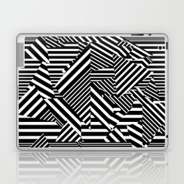 Dazzle Camo #01 - Black & White Laptop & iPad Skin