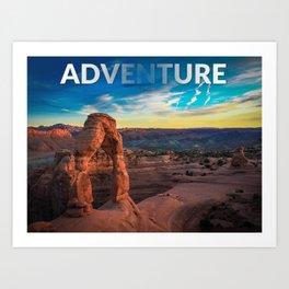 Adventure Rock Arch Art Print