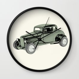 1932 Ford Coupe Wall Clock