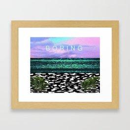 boring Framed Art Print