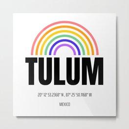 Heaven in the World - Modern Typography Tulum Metal Print