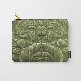 Celery Tooled Leather Carry-All Pouch