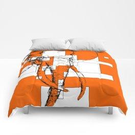 Orange is the New Elephant Comforters