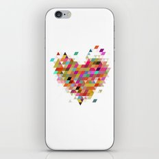 Heart1 White iPhone & iPod Skin