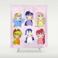 mlp Shower Curtains featuring A Boy - Little Pony by Christophe Chiozzi
