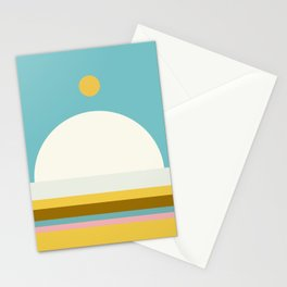 Abstraction_NEW_SUN_HORIZON_LINE_POP_ART_Minimalism_22AD Stationery Cards