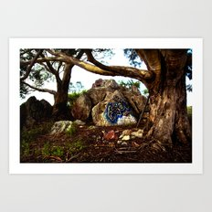 Hippie Tree Art Print
