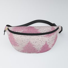 Pink Christmas Tree Forest Abstract  Fanny Pack