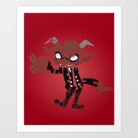 soul eater Art Prints featuring little demon soul eater by Rebecca McGoran
