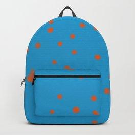 Blue and orange polka dots Backpack