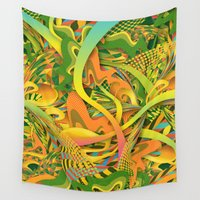 yetiland Wall Tapestries featuring Pineapple by Danny Ivan