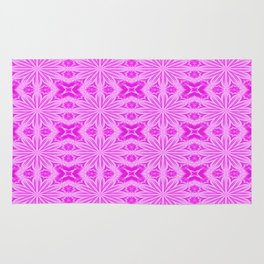 Fuchsia Pink Floral Pattern Rug