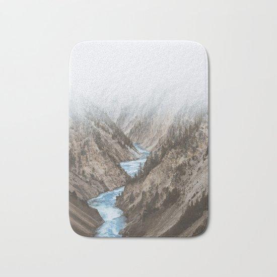 Mountain blue river Bath Mat