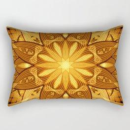 Sun Flower Mandala Rectangular Pillow